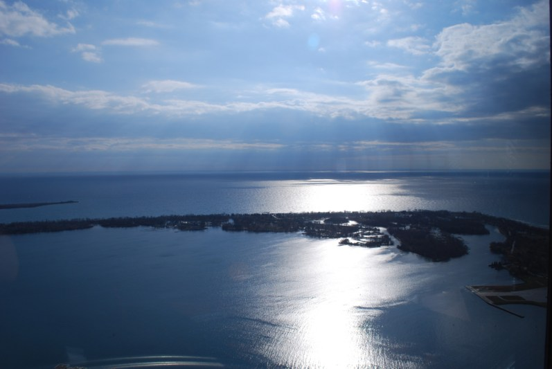 View of Lake Ontario from the CN Tower