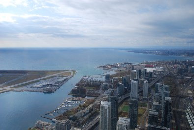 View of Toronto and Lake Ontario from the CN Tower