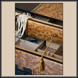 detail of top two drawers