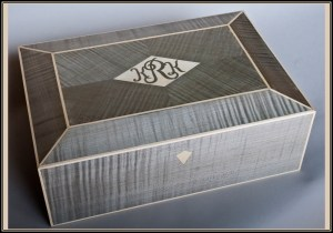 Silver sycamore and white holly jewelry box