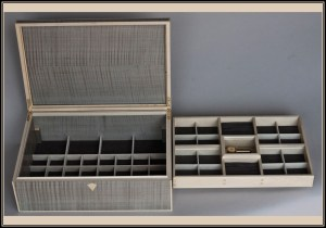 Both Trays in Silver sycamore and white holly jewelry box
