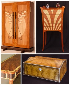examples of fine veneered furniture | Heller and Heller FUrniture | Heirloom quality custom furniture in Charlottesville, Virginia