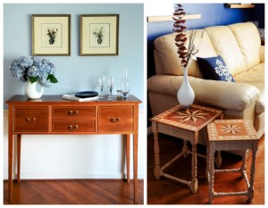 Fine custom furniture | Dining Room Sideboard | Nesting occasional tables | See more at Heller and Heller Furniture