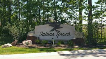 A picture of the entrance sign for Talon's Reach Communities