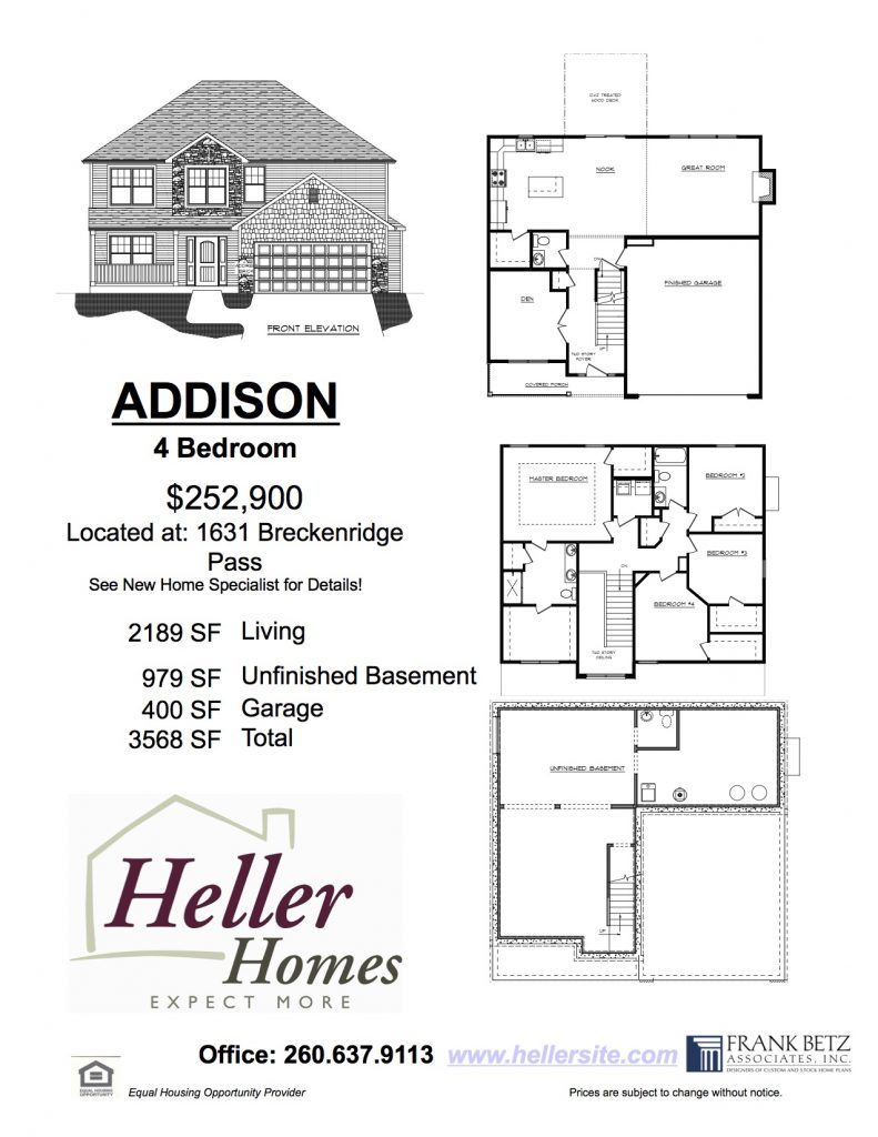 A picture of Heller Homes' Addison at 140 Quail Creek