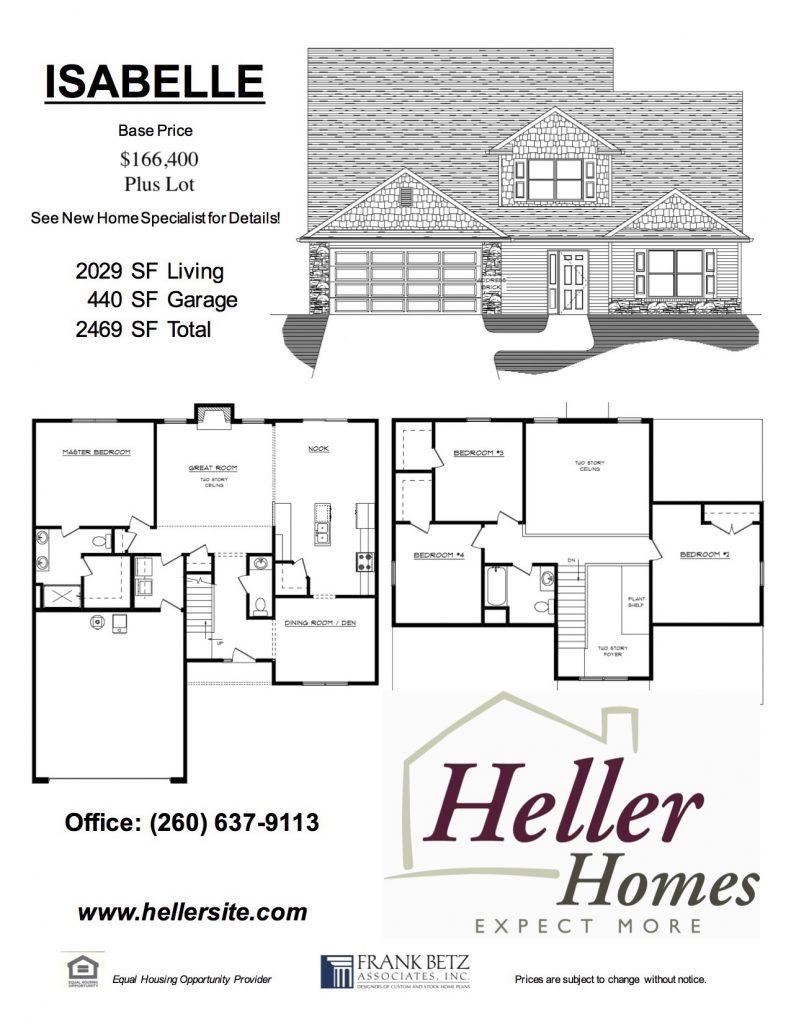 Isabelle Handout - Heller Homes Isabelle Floor Plan Handout