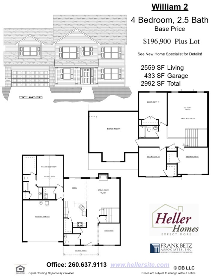William 2 Handout - Heller Homes' Base Floor Plan William 2 Handout