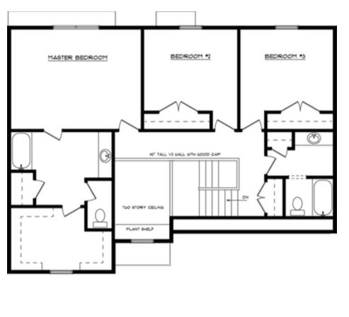 Allyson Second Floor - Heller Homes' Allyson Floor Plan Second Floor Layout