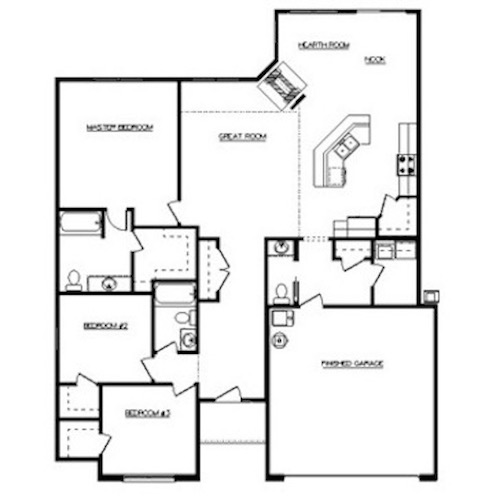 Alexa Floor Layout - Heller Homes Alexa Floor Plan