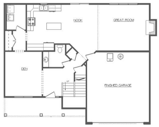 Allen First Floor Layout - Heller Homes Allen Floor Plan