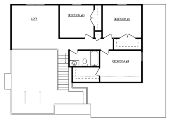 Riley Floor Layout - Heller Homes Riley Second Floor Plan