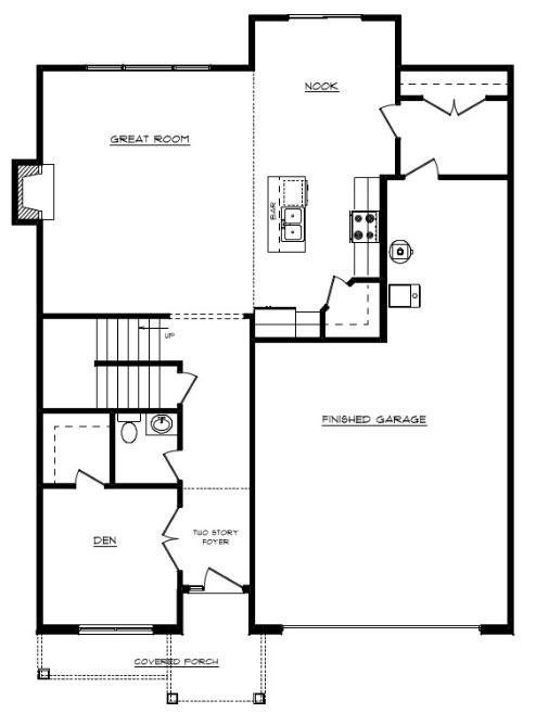 Tyson Floor Layout - Heller Homes Tyson First Floor Plan