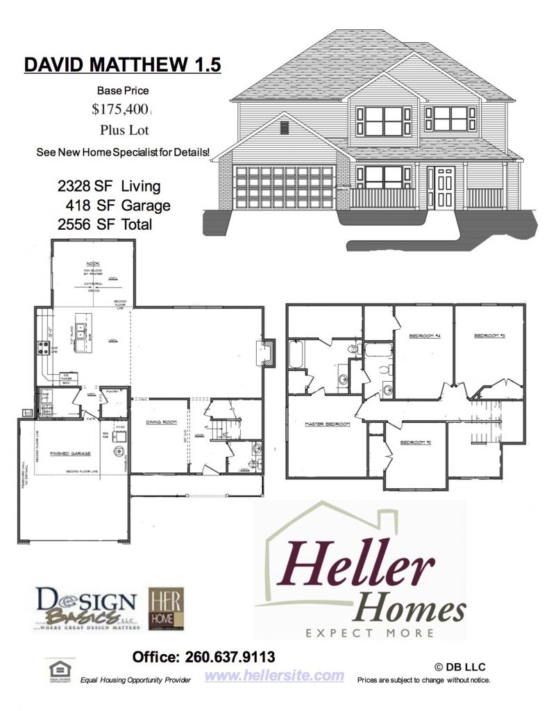David Matthew 1.5 Handout - Heller Homes David Matthew 1.5 Floor Plan Handout