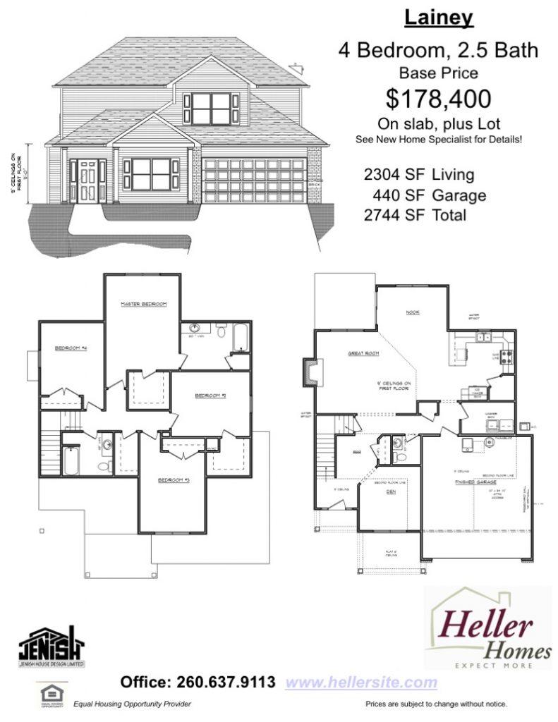 Lainey Handout - Heller Homes Floor Plan Lainey