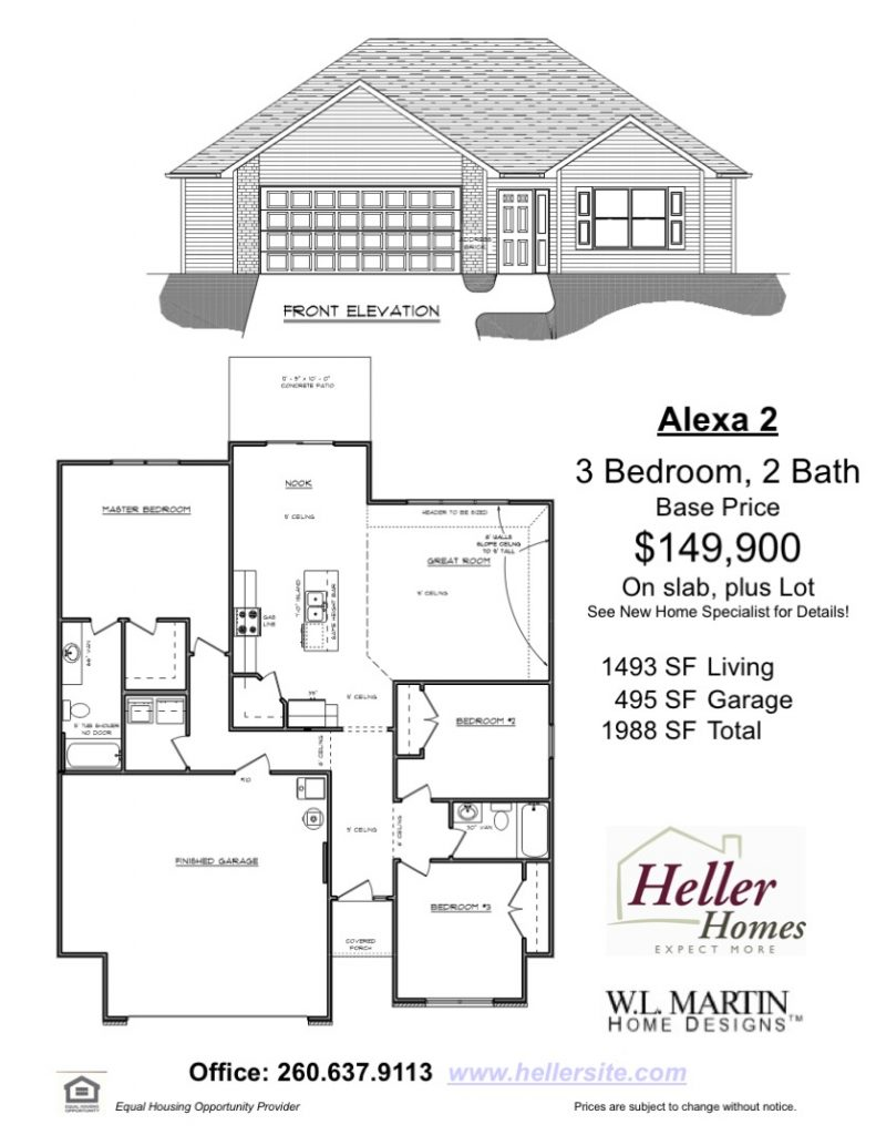 Alexa 2 Handout - Heller Homes Floor Plan Alexa 2