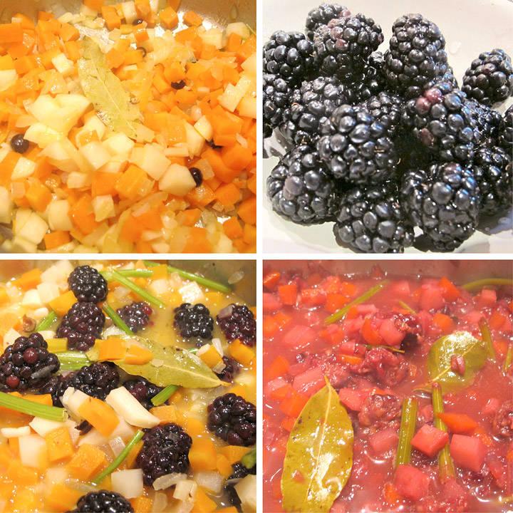 Step-by-step til en herlig bjørnebærsaus