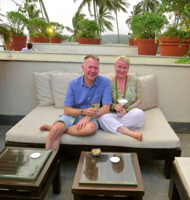 Meg og min kjære i India