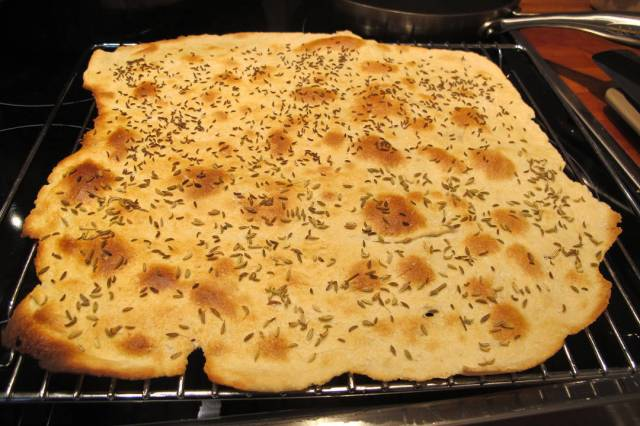flatbrød rett fra ovnen