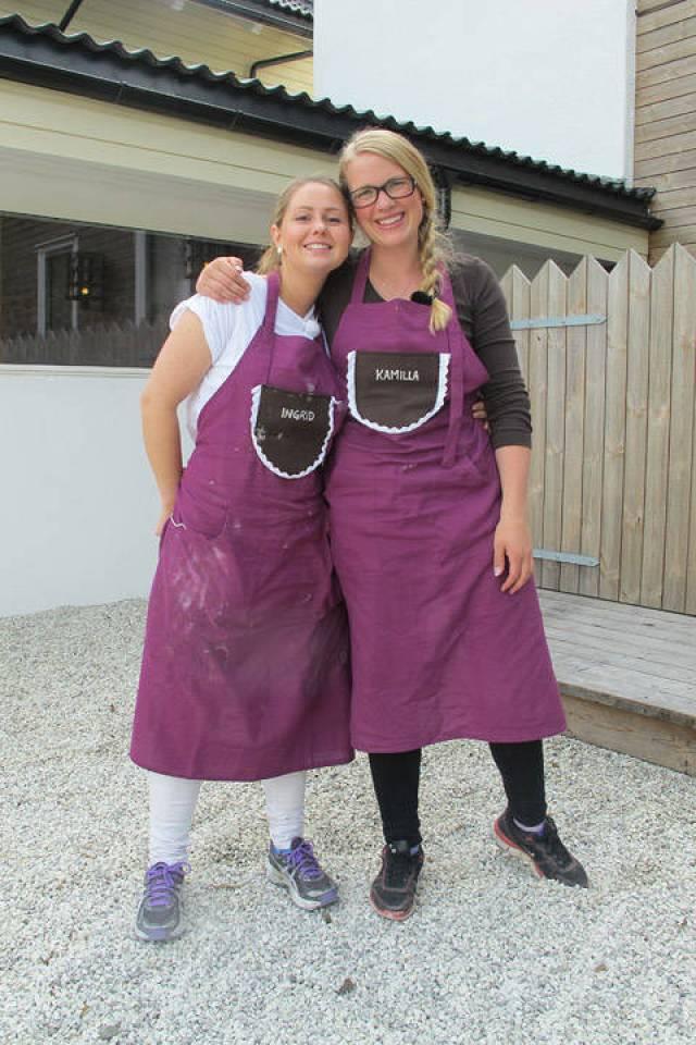 Camilla og Ingrid måtte dessverre forlate Norges Grillmester sist mandag.