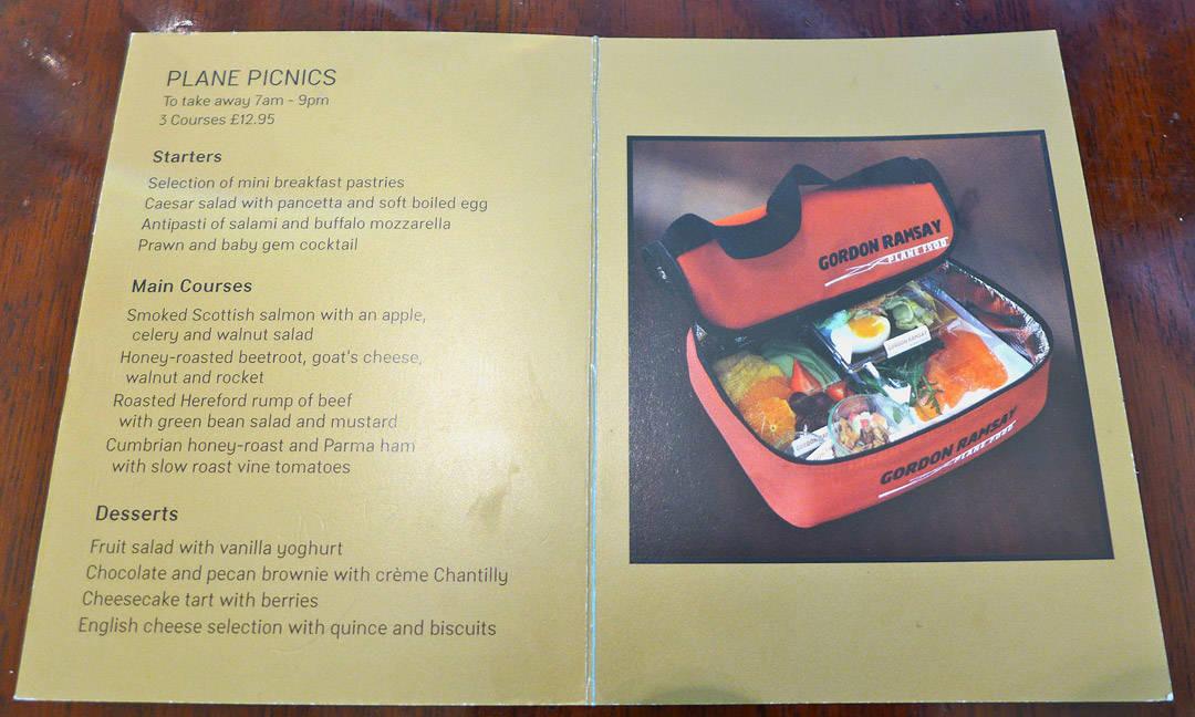 Rettene du kan velge. Forrett, hovedrett og dessert for 13 pund i snasen kjølebag.