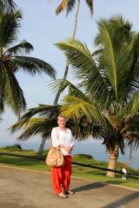 Her er jeg i India. Bildet er fra påsken i fjor.
