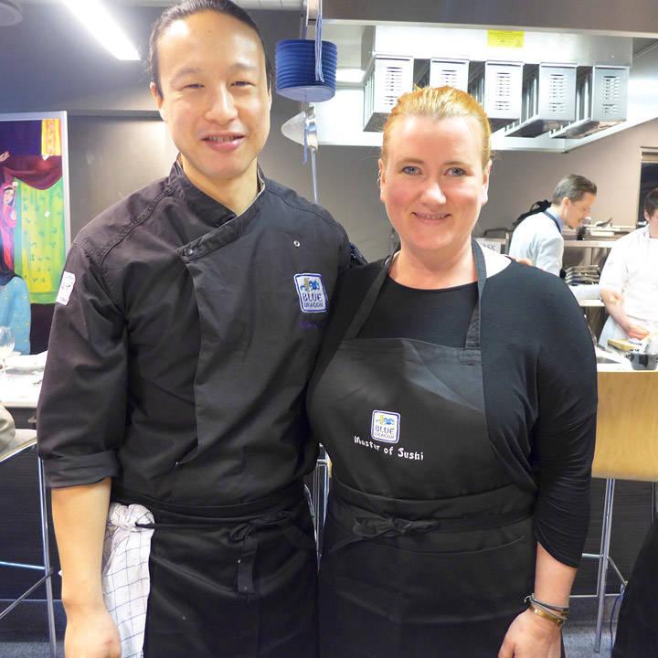 Chef Wilson Chung og meg.