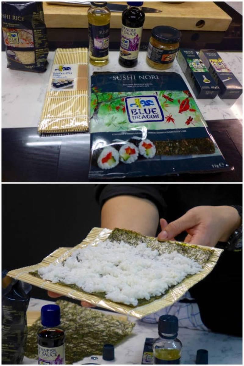 Her skal det lages sushi!