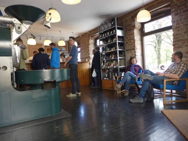 Tim Wendelboes kaffeverksted i Oslo.
