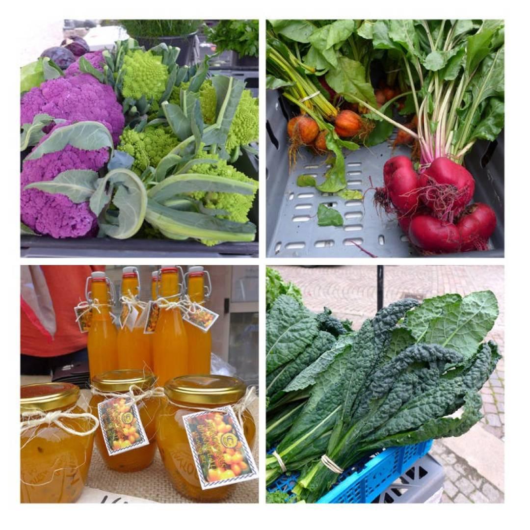 I Haga finner du «Bondens egen marknad» i helgene. Her får du kjøpt økologiske varer rett fra bonden.