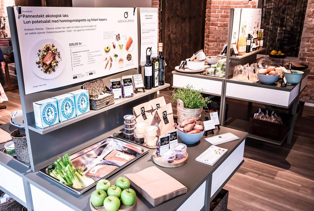 I butikken til Kokkeløren avdeling Bygdøy allé. Foto: Digman Photography (www.digmanphotography.com)