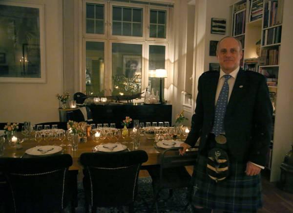 Fin i kilt! Chris Malle, Whiskyekspert. Foto: Erik Valebrokk.
