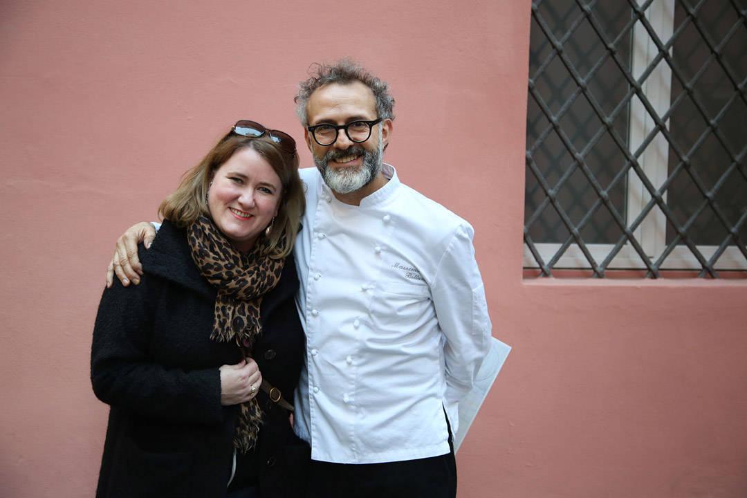 Massimo Bottura og meg. Foto: Erik Valebrokk.