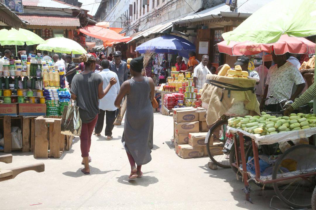 Matmarkedet i Stone Town.