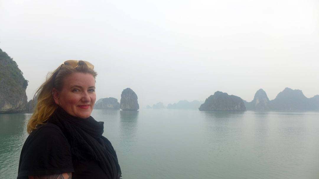 Fint i Ha Long Bay.