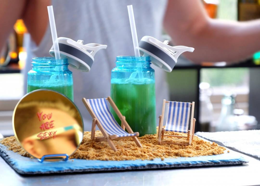 Radkos presentasjon av cocktailen Flipp The Flopp. Skal si han tatt Miami på kornet.