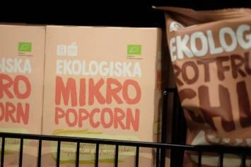 øko-popkorn for mikroovnen.