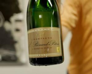 Brut Reserve fra Benard Pitois. En rimelig champagne (kr. 298) og du får masse for pengene.