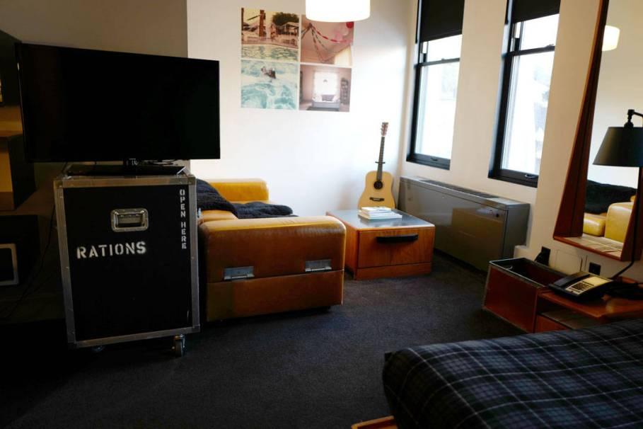 Rommet vårt på Ace Hotel, New York.