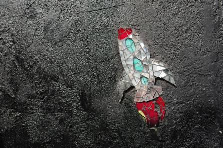 Rine Stone Street Art. Så vakkert.