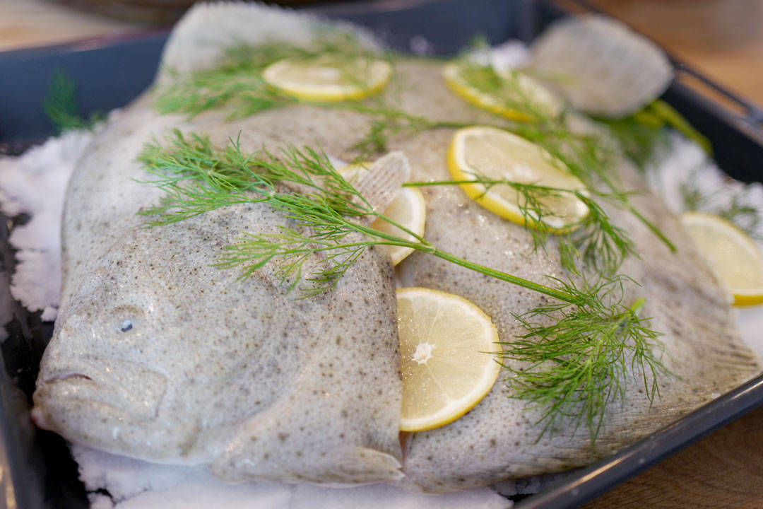Salt baking av fisk. Foto: Helleskitchen.org
