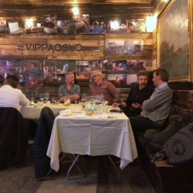 God stemning rundt bordet på Vippa.