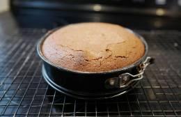 Ferdig kake. Nå må den hvile.