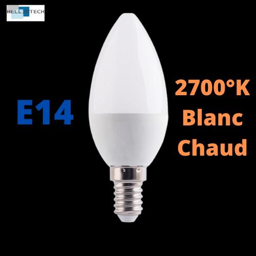 Ampoule LED E14 6W 2700k 1