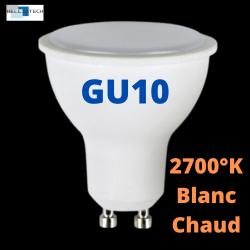 Ampoule LED GU10 6W 2700°k Blanc Chaud