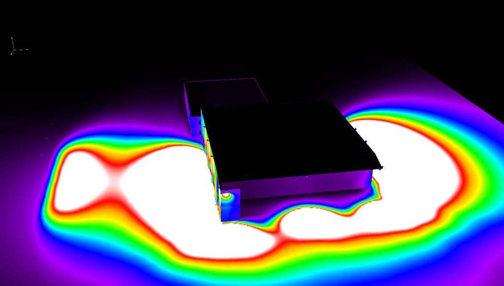 Éclairage 3D sous Dialux