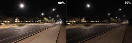 Exemple d'éclairage évolutif