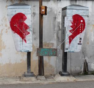 """""""Broken Heart"""", Love Lane, Penang. Someone has mended it. This is one of my all-time favourites."""