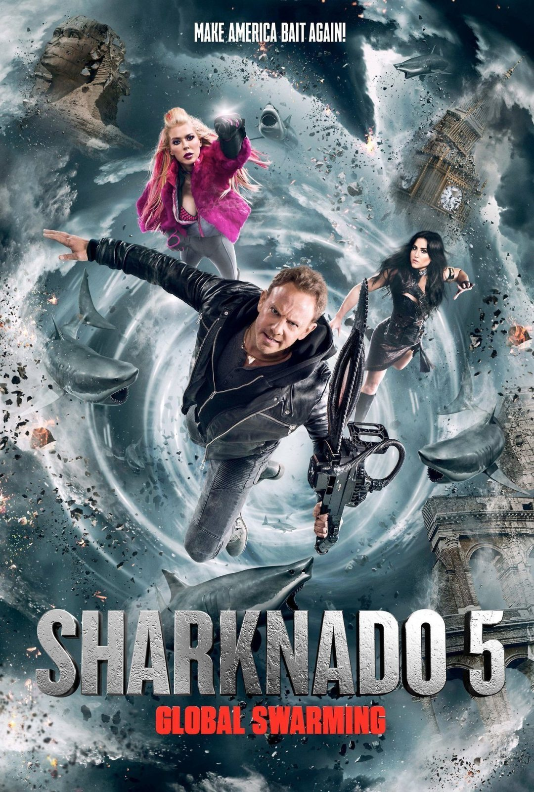 The New 'Sharknado 5' Poster Will Make America Bait Again!