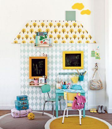 DIY kidroom // Hëllø Blogzine www.hello-hello.fr #diy #kidroom #wallpaper
