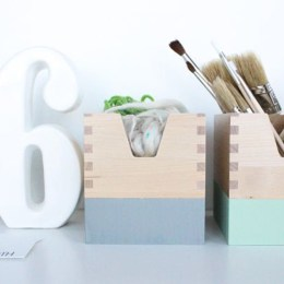 Rangement bureau pastel